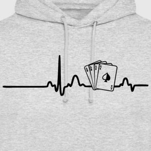 ECG POKER PLAYER black - Unisex Hoodie