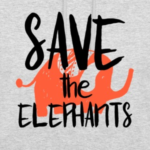 Save the Elephants - Sweat-shirt à capuche unisexe