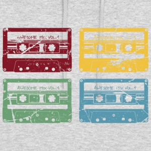 RETRO SET CASSETTE - Sweat-shirt à capuche unisexe