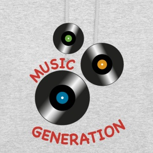 Cd vinyl music generation - Unisex Hoodie