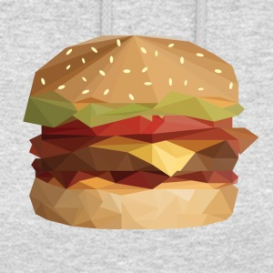Low Poly Burger - Bluza z kapturem typu unisex