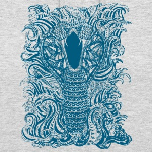 Snake-and-Water-in-Blue - Unisex Hoodie