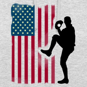 baseball pitcher Team USA Flag Softball Sport te - Unisex-hettegenser