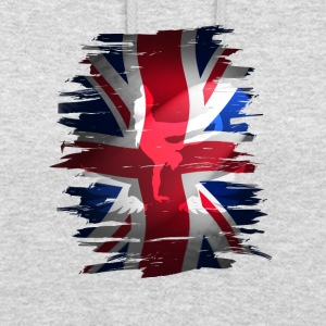 Union Jack britain flag Stunt England destroyed ro - Unisex Hoodie
