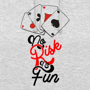 No Risk No Fun - Bluza z kapturem typu unisex