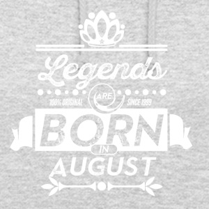 Legends august født bursdagsgave - Unisex-hettegenser