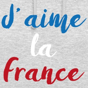 J'aime la France - Sweat-shirt à capuche unisexe