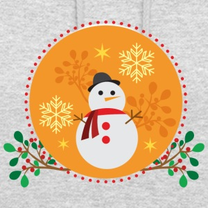 Snowman orange design - Unisex Hoodie