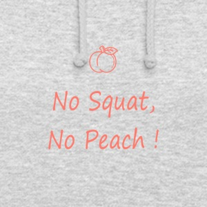 No squatting, no peach coral - Unisex Hoodie