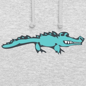 mal crocodile - Sweat-shirt à capuche unisexe