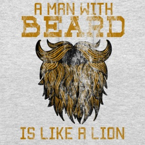 A man with beard is like a lion! - Unisex Hoodie