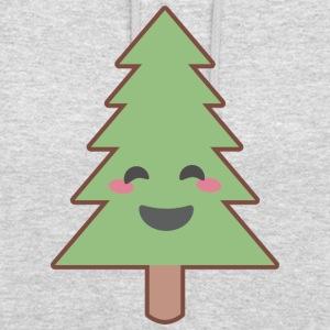 Kawaii Christmas Tree - Sweat-shirt à capuche unisexe