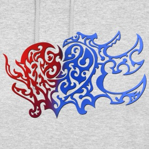 Tribal Heart Good And Evil Side - Unisex Hoodie