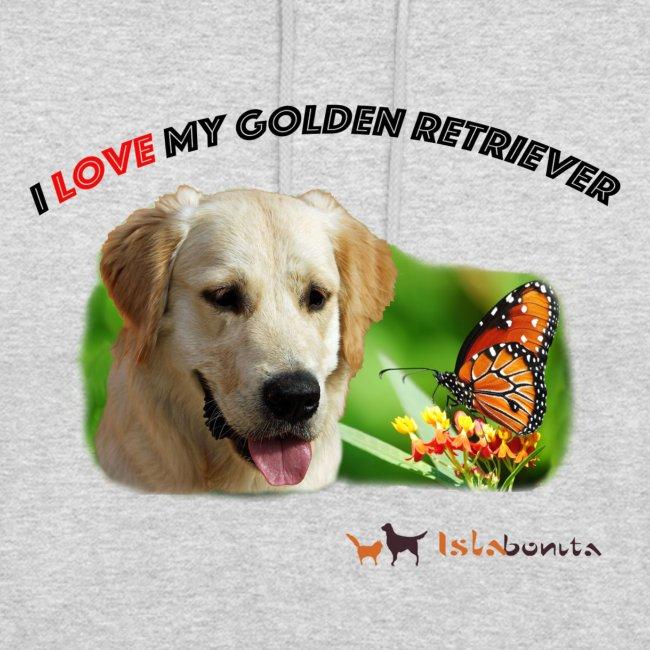 Golden Retriever osserva le farfalle
