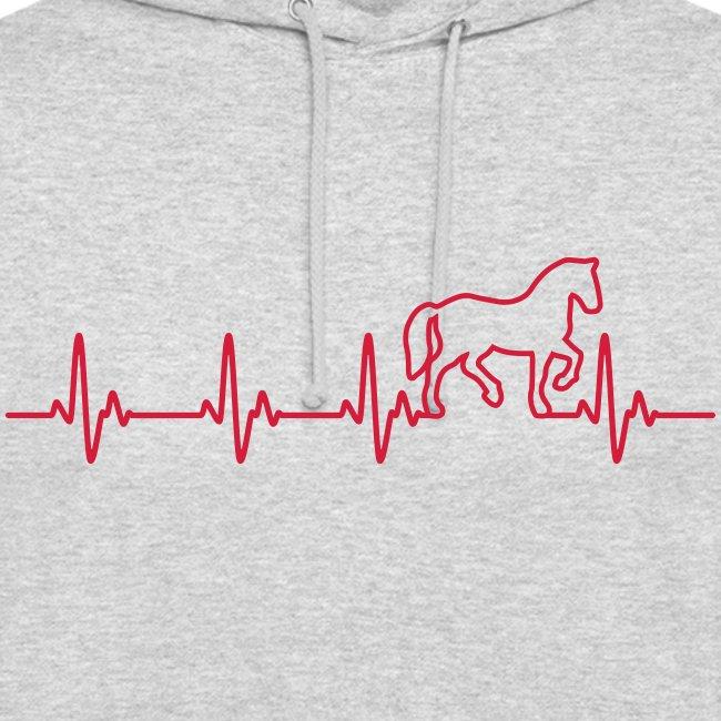 Vorschau: Horse Heartbeat - Unisex Hoodie