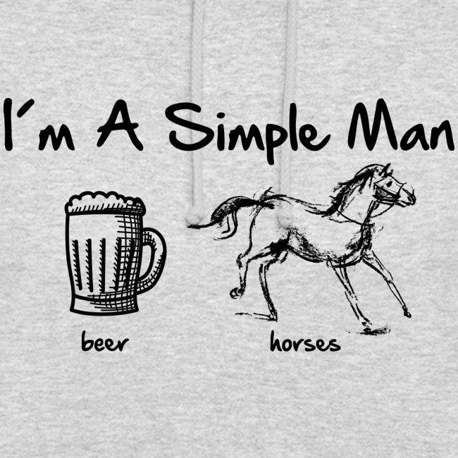 Vorschau: simple man pferd - Unisex Hoodie