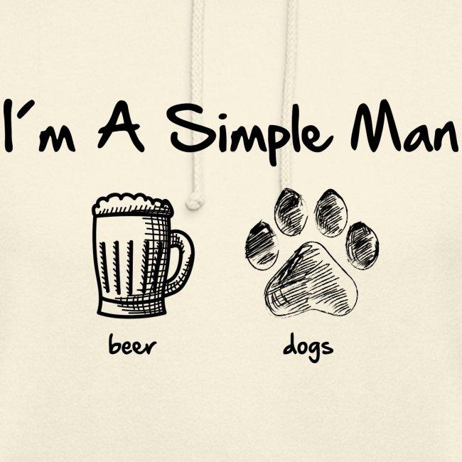 Vorschau: simple man dogs beer - Unisex Hoodie