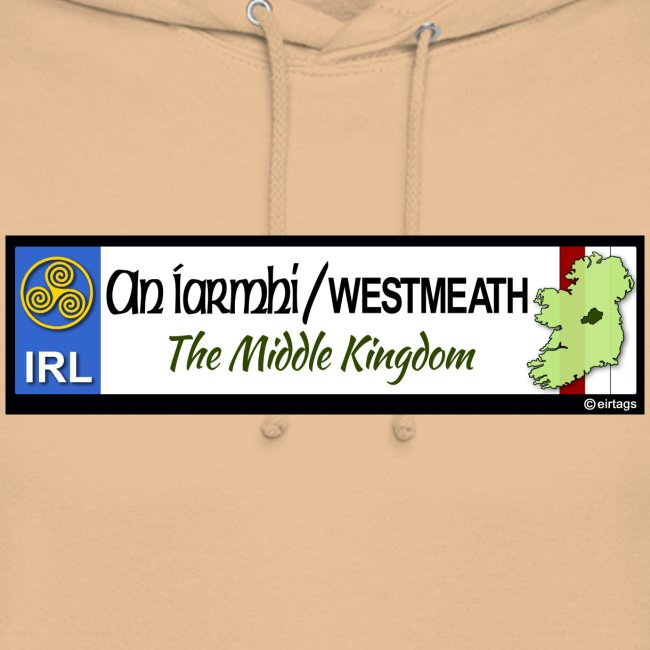 WESTMEATH, IRELAND: licence plate tag style decal