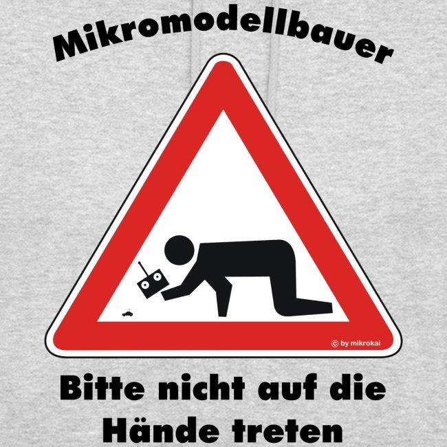 "Mikromodell Warnschild ""Hände"""