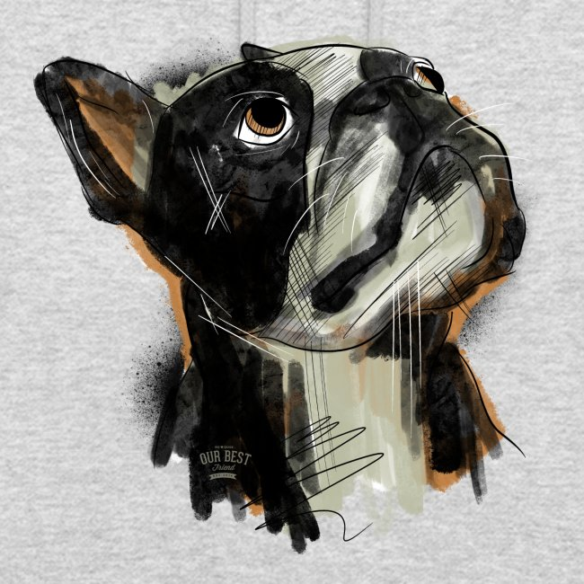 Französische Bulldogge Zeichnung