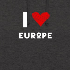J'aime coeur l'Europe eu l'amour rouge déclaration fun Demo - Sweat-shirt à capuche unisexe