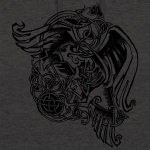 Celtic Raven - Sweat-shirt à capuche unisexe