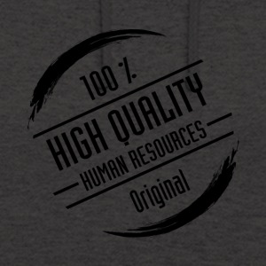 Stamp: High Quality Human Resources, black - Unisex Hoodie