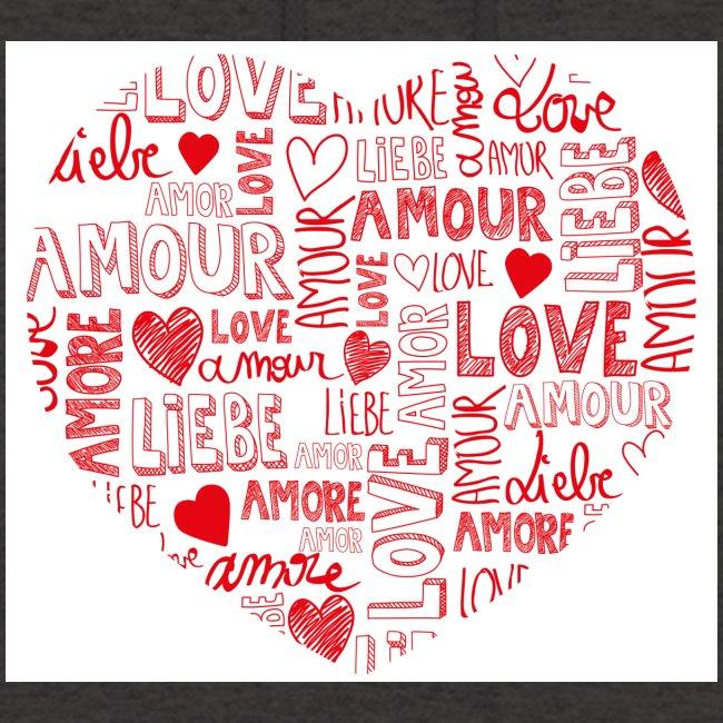 T-shirt texte amour