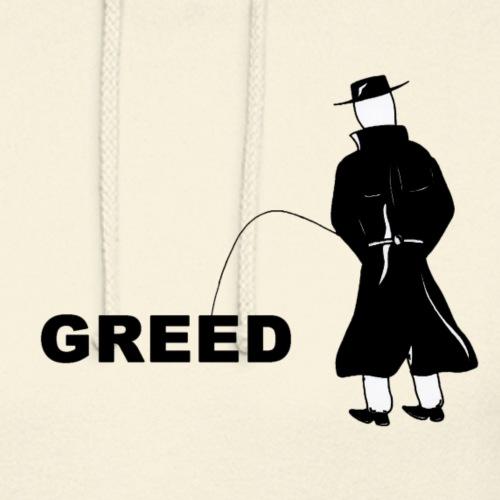 Pissing Man against greed - Unisex Hoodie