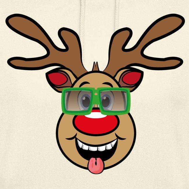 Weihnachten Rudi mit Brille