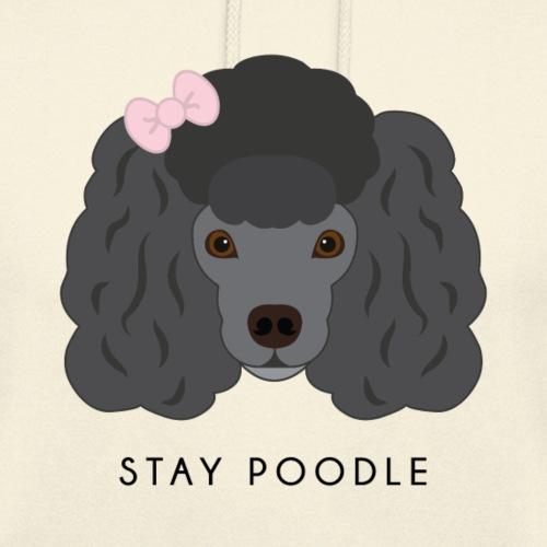 Poodle Black - Felpa con cappuccio unisex