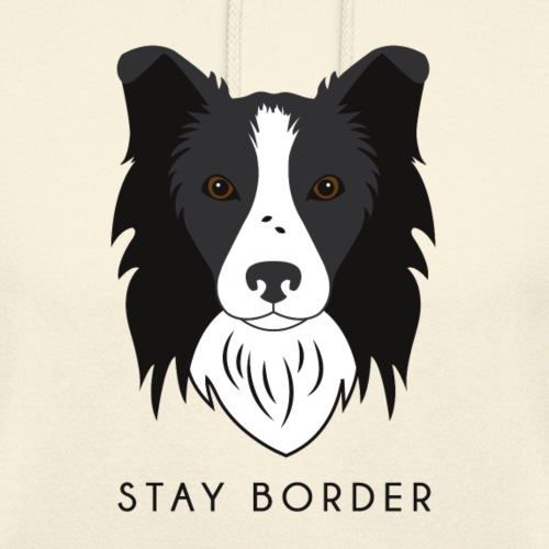 Border Collie - Dark - Felpa con cappuccio unisex