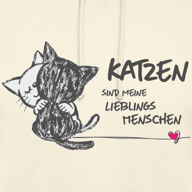 Vorschau: Katzen Lieblingsmenschen - Unisex Hoodie