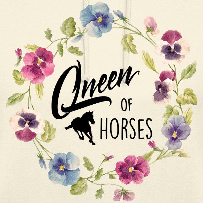 Vorschau: queen of horses - Unisex Hoodie