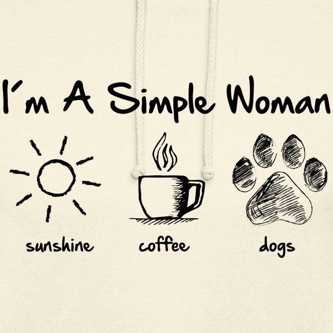 simple woman dog