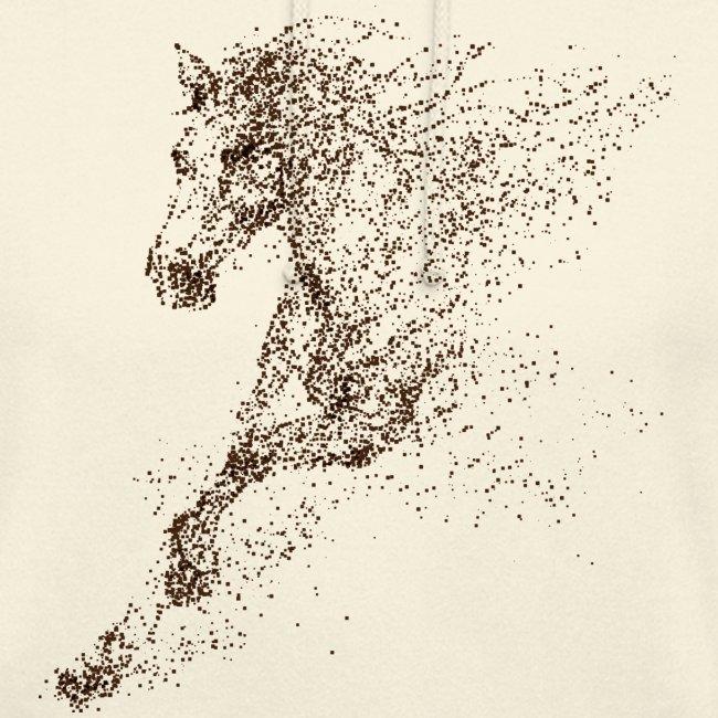 Vorschau: Pixel Horse brown - Unisex Hoodie