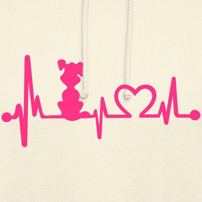 Vorschau: dog heart beat - Unisex Hoodie