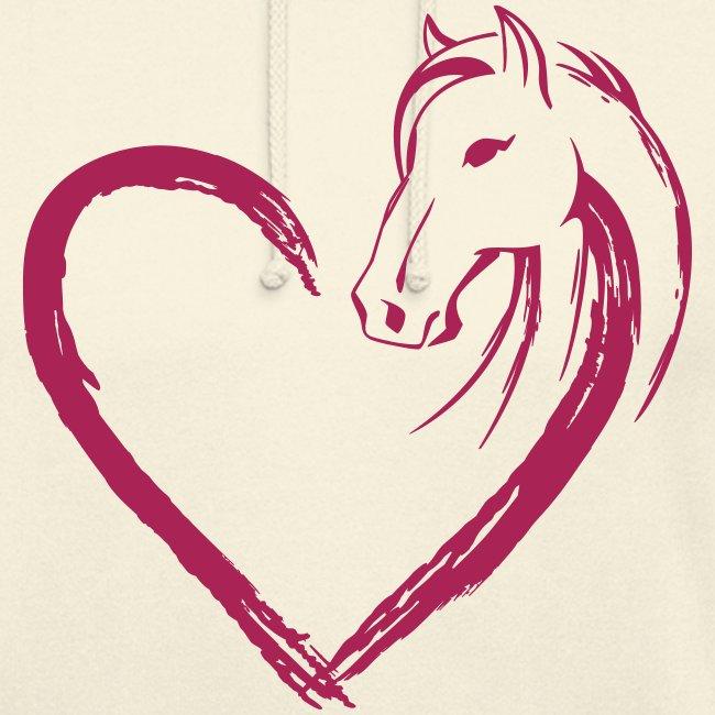 Vorschau: Pferde Herz - Unisex Hoodie