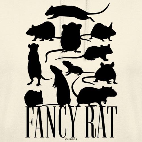 """Fancy Rat Black - Huppari """"unisex"""""""