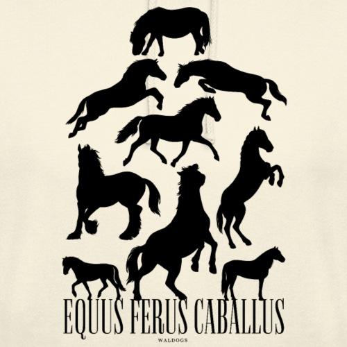 """Equus Ferus Caballus Black - Huppari """"unisex"""""""