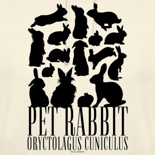 """Pet Rabbit Black - Huppari """"unisex"""""""