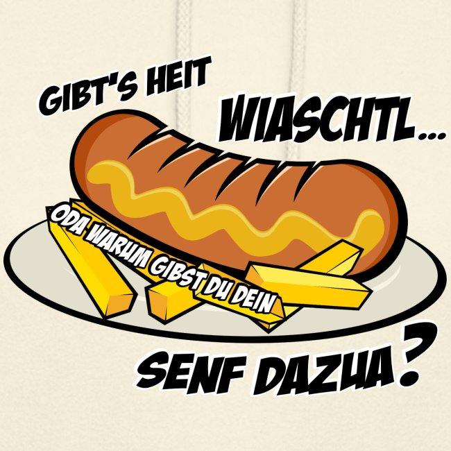 Vorschau: Wiaschtl mit Senf - Unisex Hoodie