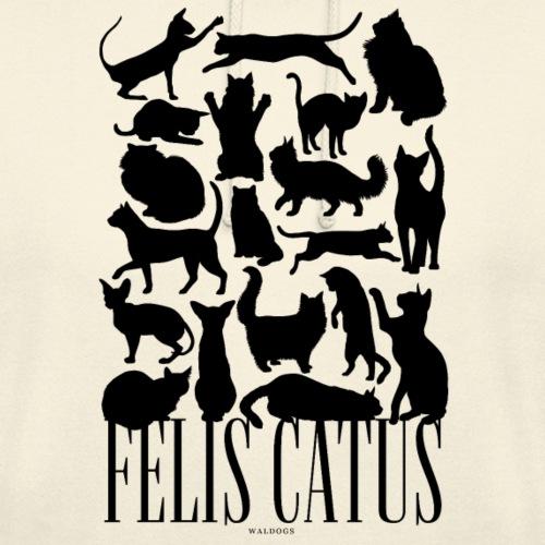 """Felis Catus Black - Huppari """"unisex"""""""