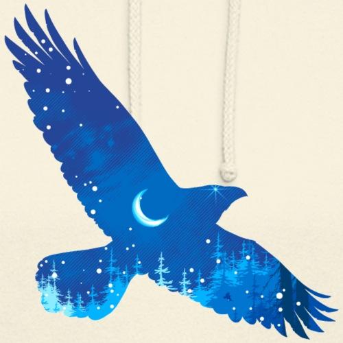 Oiseau Bleu d'hiver - Sweat-shirt à capuche unisexe