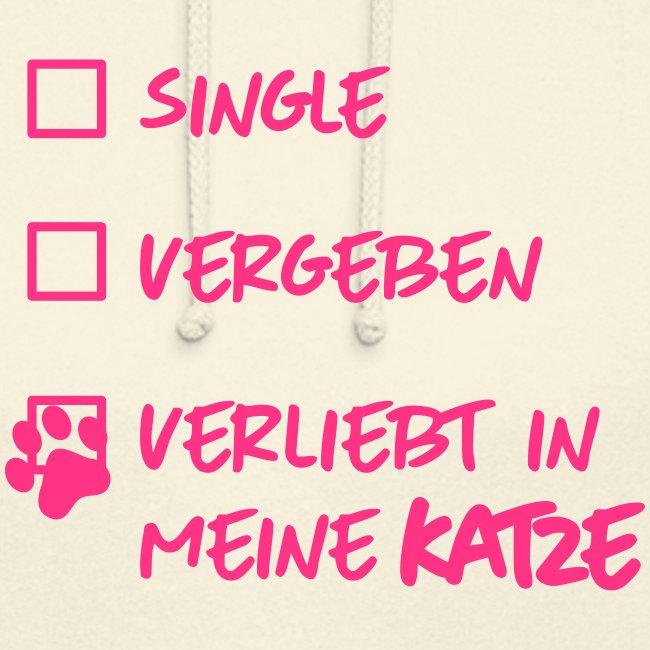 Vorschau: single verliebt katze - Unisex Hoodie