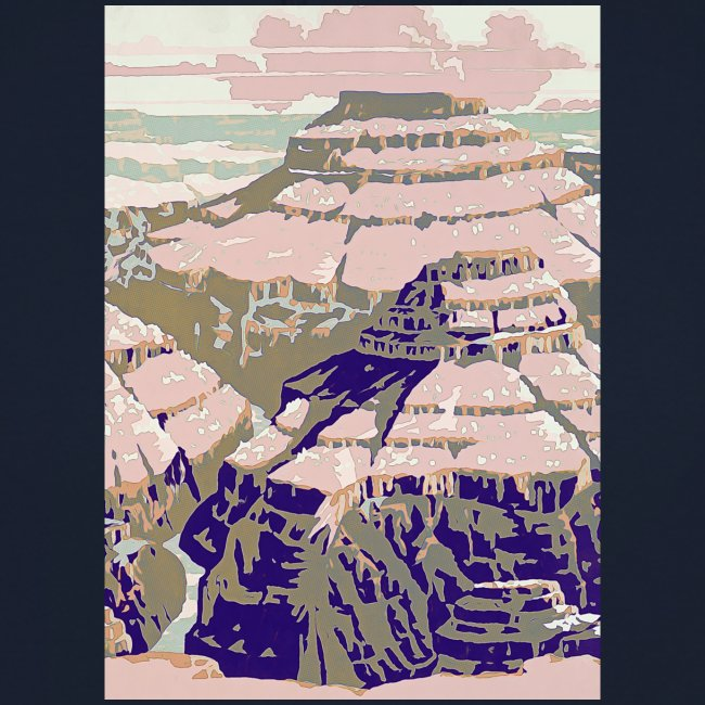 Rocky Mountains Vintage Travel Poster