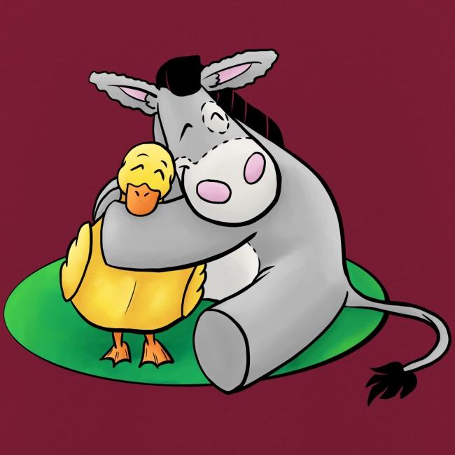 Kuschelesel mit Ente