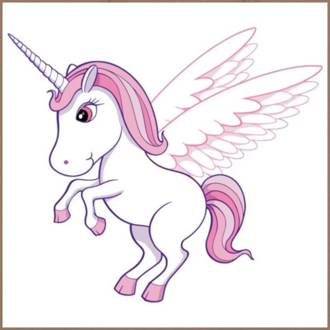 Petite licorne rose super mignonne!!