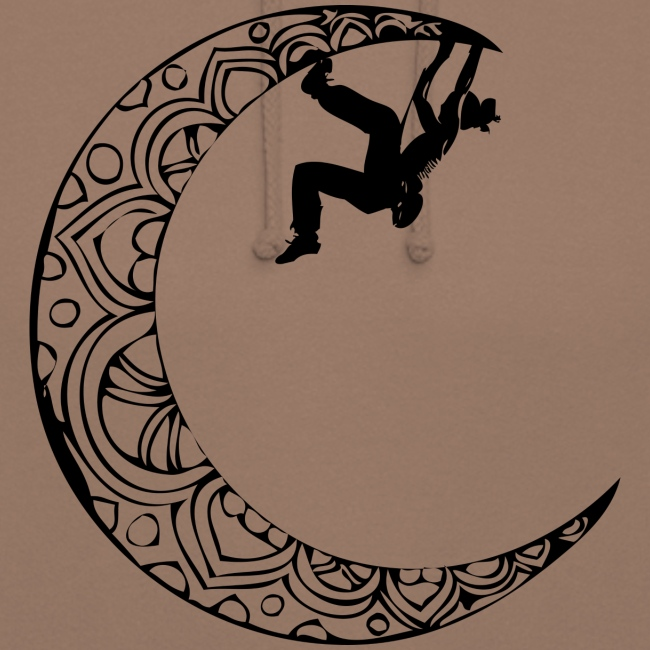 Escaladora en la luna - Woman climber in the moon