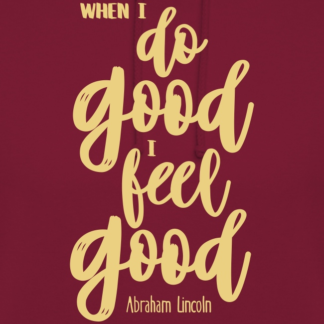 Do good - feel good